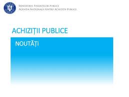 Noutati Achizitii Publice